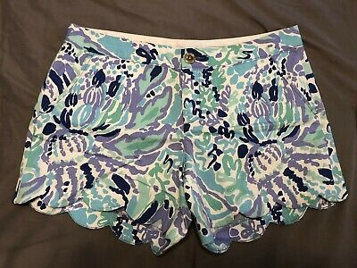 6eeaaba19bbb31 LILLY PULITZER BUTTERCUP Shorts Size 8 Nice Ink - $27.00 | PicClick