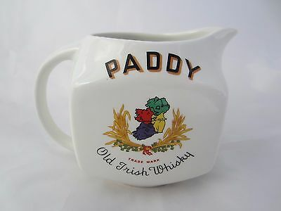 Paddy 10 Years Old Irish Whiskey Water Jug Vintage Arklow Pottery VERY SCARCE