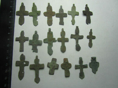 Medieval collection of crosses   Metal detector finds №614 100% original