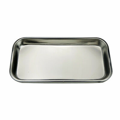 1pc Stainless Steel Medical Tray Square Dental Plate Oral Care Dentist lab plate