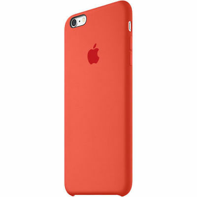 Authentique Officiel Apple Iphone 6 Plus/6S Plus Orange Silicone Étui Mkxq2zm/A
