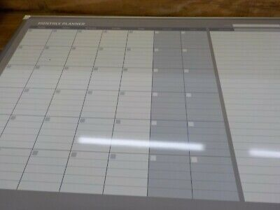 BI-SILQUE VISUAL COMMUNICATION PRODUCTS GA0597830 Monthly Planner, 48x36, Silver