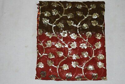 Exotic Vintage Indian Dupatta Traditional Bollywood Shawl Georgette Scarves