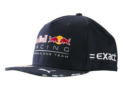 Cap Hat Flat Brim Peak Verstappen Red Bull Racing Formula One Team F1 PUMA NEW!