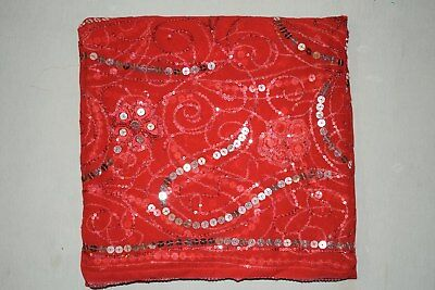 EthnicTraditional Indian Wedding Dupatta Scarf Sequins Embroidery Georgette Veil
