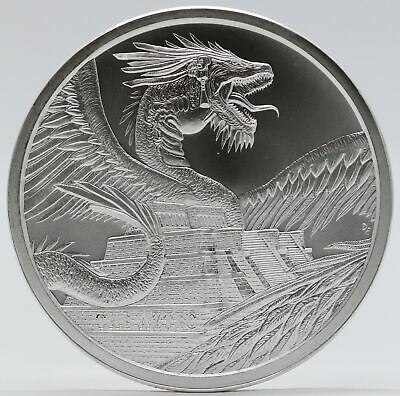The Aztec 1 oz Silver Medal - World of Dragons Series # 1 ounce 999 Round JB821