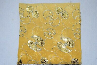 Exotic Floral Indian Wedding Dupatta Scarf Sequins Embroidery Georgette Veil L""