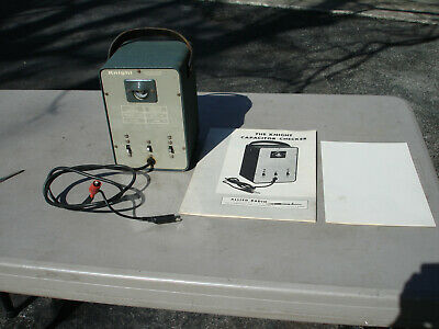 Allied Radio Knight  Capacitor Checker Test Leads & Manual