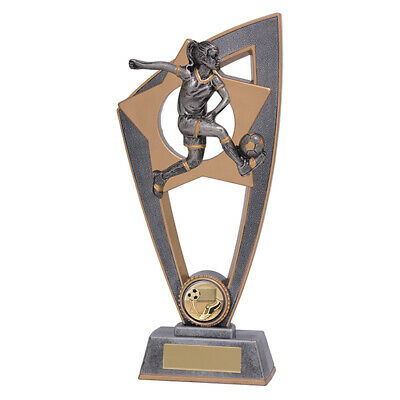 Football Female Trophy Award 230mm Star Blast FREE Engraving