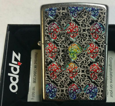Zippo lighter Skull Day Of The Dead Limited Edition NEW IN BOX RARE. SKULL