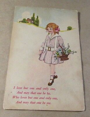 Old Postcard-[Early 1900]<Greeting Postcard.>{LOVE}