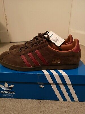 adidas Originals Trimm Star BNIBWT Brown/Red UK 12 BRAND NEW IN OG BOX WITH TAGS