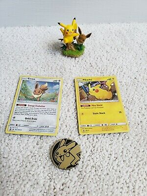 Pokemon PIKACHU Promo SM157 EEVEE 101a/149 Holo Card toy figure collection box