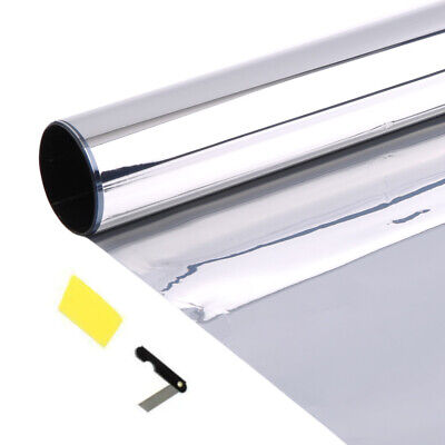 6M x 75cm Silver Reflective Window Film Solar Control & Privacy Tint - 15% VLT