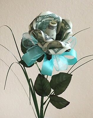 Handcrafted $2 Dollar Bills Money Origami Rose Gifts For any Occasion