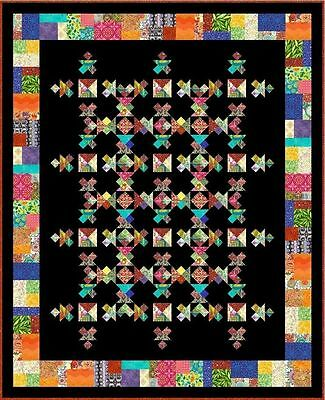 """UBANGI STOMP - 91x74"""" - Pre-cut Patchwork Quilt Kit by Quilt-Addicts King Single"""