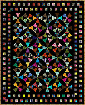 """EXPRESSION - 85"""" x 69"""" - Pre-cut Quilt Kit by Quilt-Addicts King Single"""