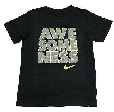 "NEW Nike Boys' Short Sleeve T-Shirt ""AWESOMENESS"" Choose size/color"