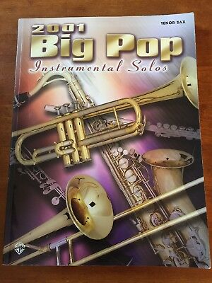 3 NEW POP Music Hits Instrumental Solos for Tenor Saxophone - $2 00