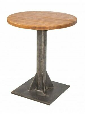 Factory Machine Shop Pedestal Base With Newly Added Solid Oak Wood Tabletop