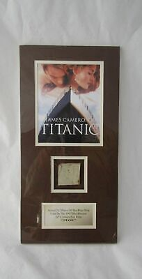 James Cameron's Titanic 1997 Blockbuster Film -Prop From Movie Framed With Coa !