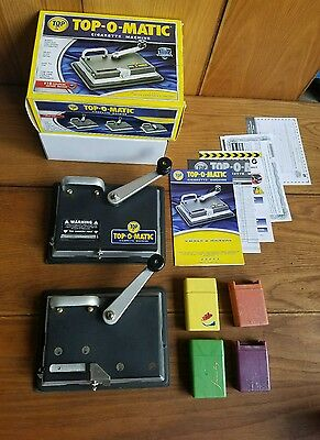 2 TOP-O-MATIC Cigarette Rolling Making Tobacco Injector Machines Kings 100s ++++