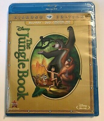 DISNEY The Jungle Book (Blu-ray/DVD 2-Disc Set Diamond Edition) NEW No Slipcover