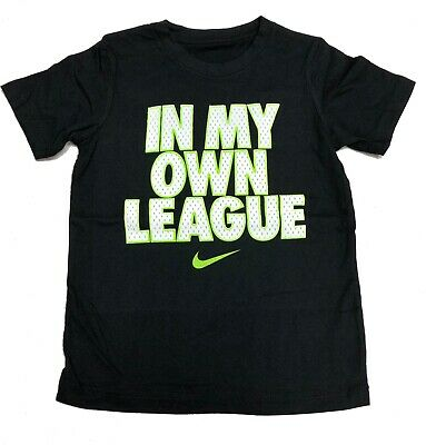 "NEW Nike Boys' Short Sleeve T-Shirt ""In My Own League"" Choose size"