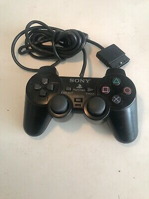 Official PS2 Black Dualshock 2 Controller Original Sony PlayStation 2 TESTED