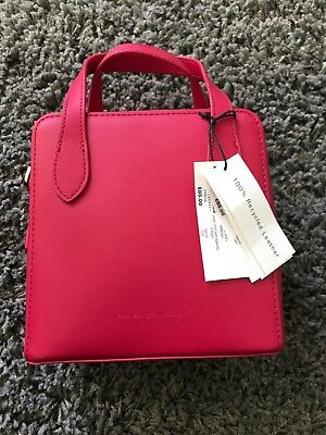 8e6a4ce42 Bnwt French Connection Pink Lula Leather Square Cross Bag Sbkad Mimosa