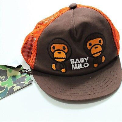 3f270c1dd42 Authentic Bathing Ape Bape Baby Milo Trucker Hat Cap New with Tag Made in  Japan