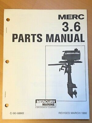 1980 Merc Mercury 3.6 Marine Outboard Engine Parts Manual List Catalog