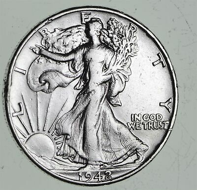 Strong Feather Details - 1942 Walking Liberty Half Dollars - Huge Value *551