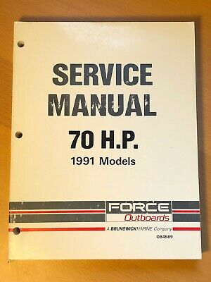 1991 Brunswick Force Outboard Service Repair Shop Manual, 70 HP
