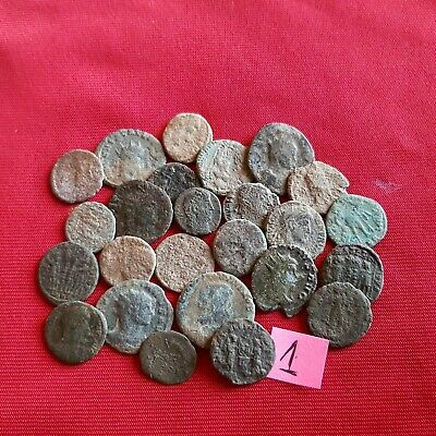 Ancient Roman coins - UNCLEANED COINS - Beautiful . Lot with 25 pieces .No 1