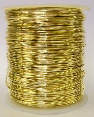 1 Pound spool  Bare Yellow Brass Wire (Multiple gauges available)