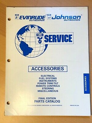 Evinrude Johnson Outboard Motor Accessories Parts Catalog Manual 1995 OMC