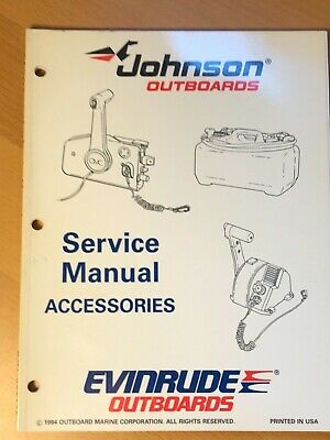 1994 Omc Johnson Evinrude Outboard Accessories Service Repair Manual