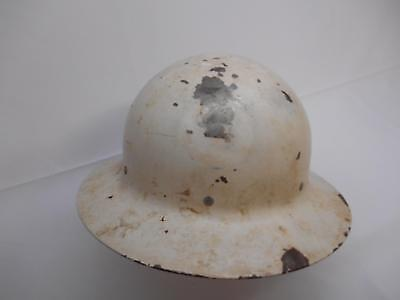 WWII U.S. GOVERNMENT OFFICE CIVIL DEFENSE METAL HELMET O.C.D. Hard Hat