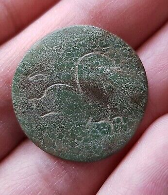 Very rare Ancient CELTIC ENGRAVED BUTTON - HORSE ENGRAVED - Hallstatt culture