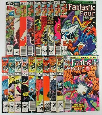 Fantastic Four Bronze/Copper Age Lot 19 Issues Jack Kirby Marvel Comics