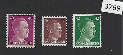 MNH Stamp set / Adolph Hitler / 1940s Third Reich issues / Nazi Germany stamps