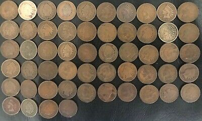 54x Indian Head Pennies (USA)