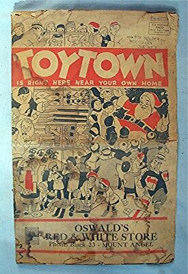 1930's Christmas Advertising -- Toy Town Catalog / Magazine *