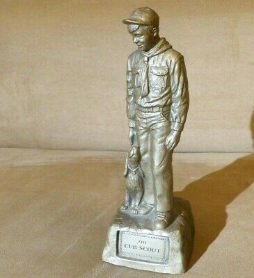 """Vintage Rare 10"""" THE CUB SCOUT statue with dog. Based on Norman Rockwell"""
