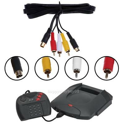 10Pin Gold Plated Connector A/V RCA AV TV S-Video Cable for SEGA Saturn Console