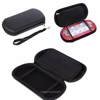 Black Hard Travel Pouch EVA Case Carrying Bag W/Strap For Sony PS Vita PSV New