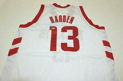 bf1edc8c8f4 James Harden Signed Houston Rockets Jersey Beckett COA Autographed Auto