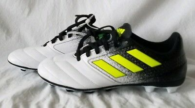35d471d99 Adidas Ace 17.4 FG NEW Youth Boys BA8564 Black Yellow White Soccer Cleats  Size 5