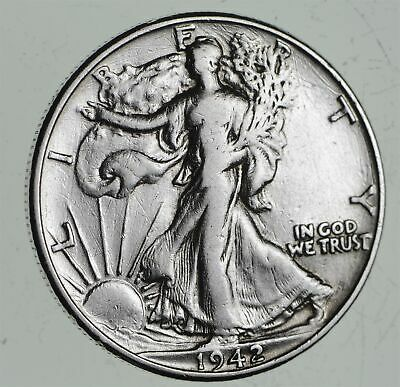 Strong Feather Details - 1942 Walking Liberty Half Dollars - Huge Value *556